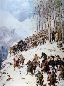 Худ. П.П. Соколов, Преход през Балкана 1878г.