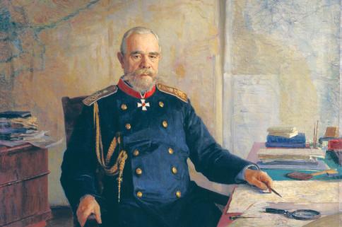 Портрет  на Николай Николаевич Обручев. Худ. Н. А. Ярошенко.