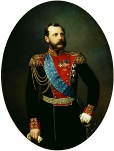 Портрет на император Александър II, худ. И. А. Тюрин.